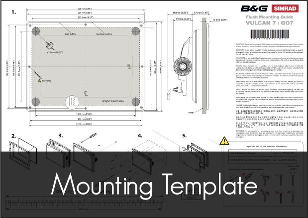 b g vulcan 7r mounting template