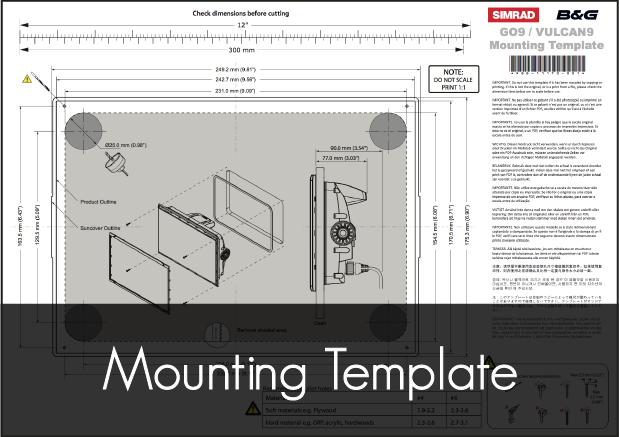 b g vulcan 9r mounting template