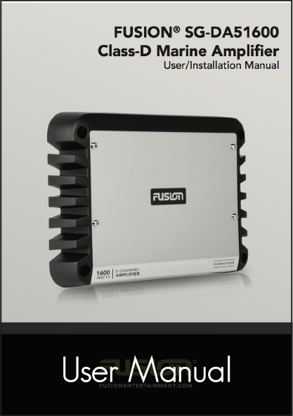 fusion sg da51600 amplifier user manual