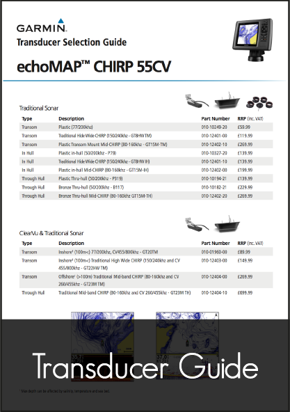 garmin chirp 55cv transducer guide