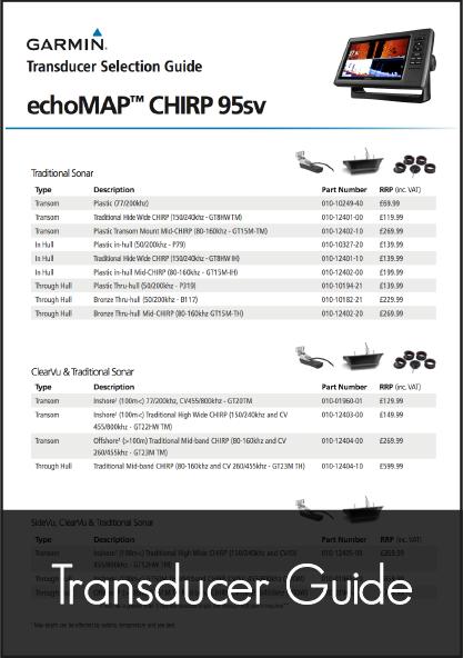 garmin chirp 95sv transducer guide