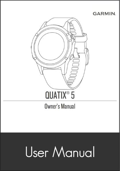garmin quatix 5 smartwatch user manual