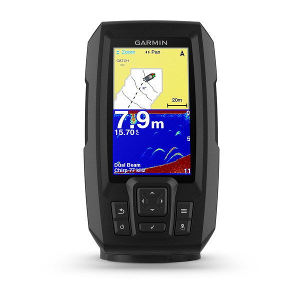 garmin striker plus 4 fishfinder front