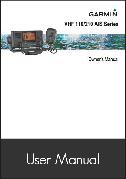 garmin vhf 210i user manual