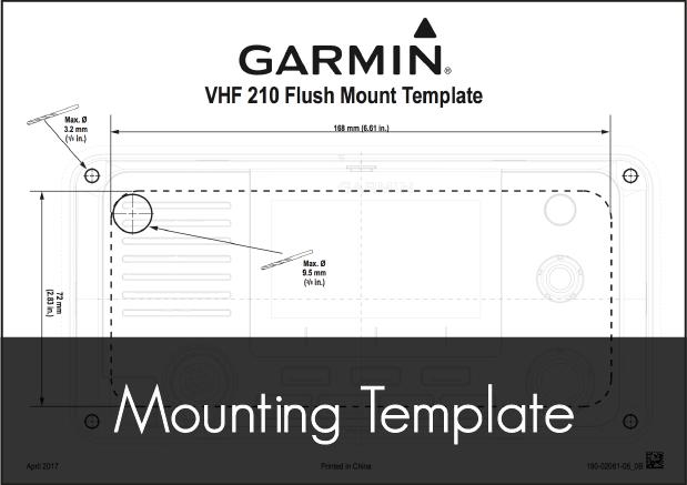 garmin vhf 210i user mounting template