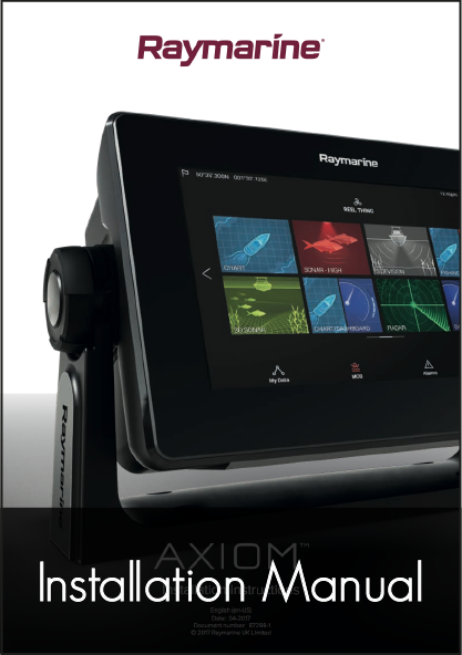 raymarine axiom mfd installation instructions