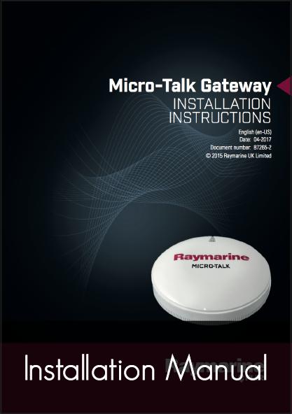 raymarine microtalk wireless gateway installation instructions